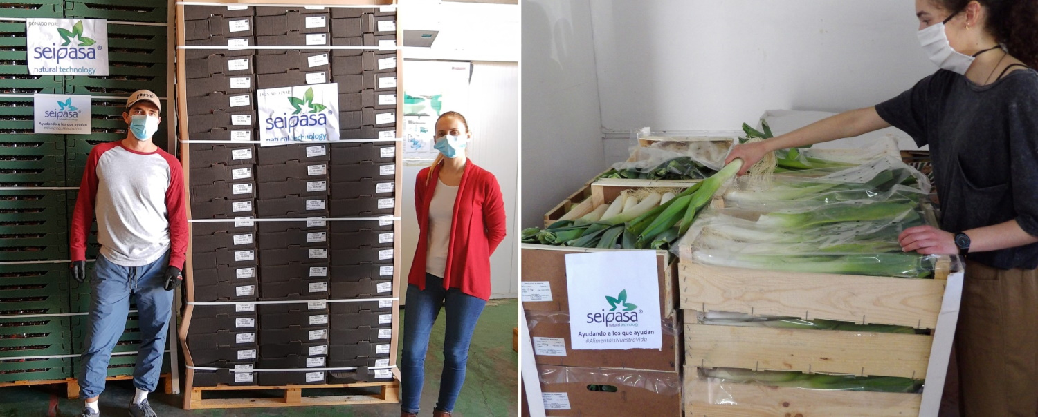 Seipasa donates fruits and vegetables to the Food Bank